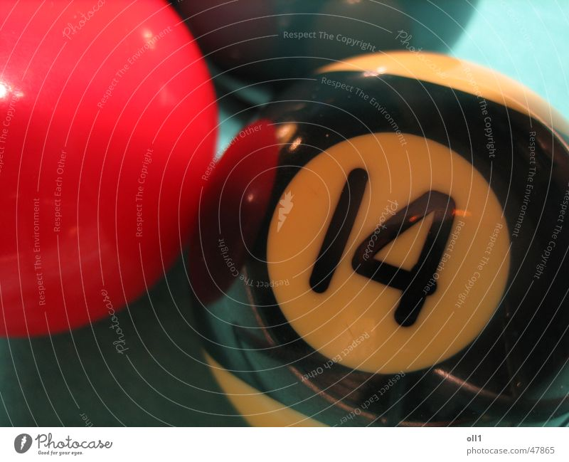 No 14 Pool (game) Playing Digits and numbers Red Black Green Sphere Ball Blue