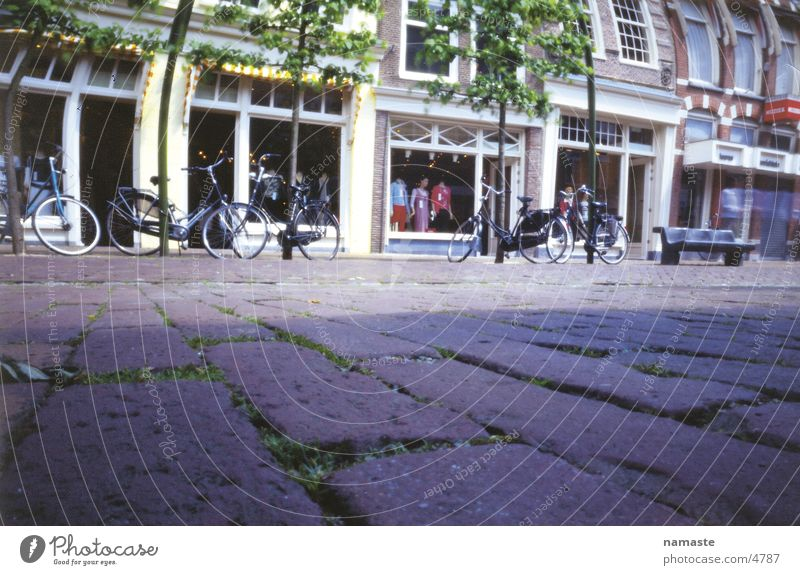 Vacation & Travel Street Bicycle Cobblestones Netherlands