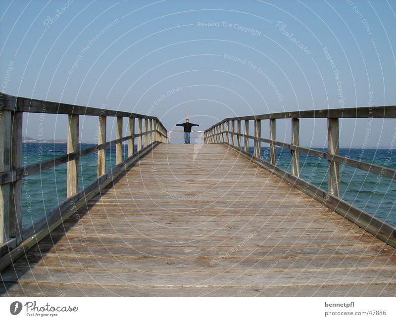 freedom Ocean Lake Vantage point Footbridge Emotions Freedom spread arms matthias nitsch Lanes & trails Baltic Sea