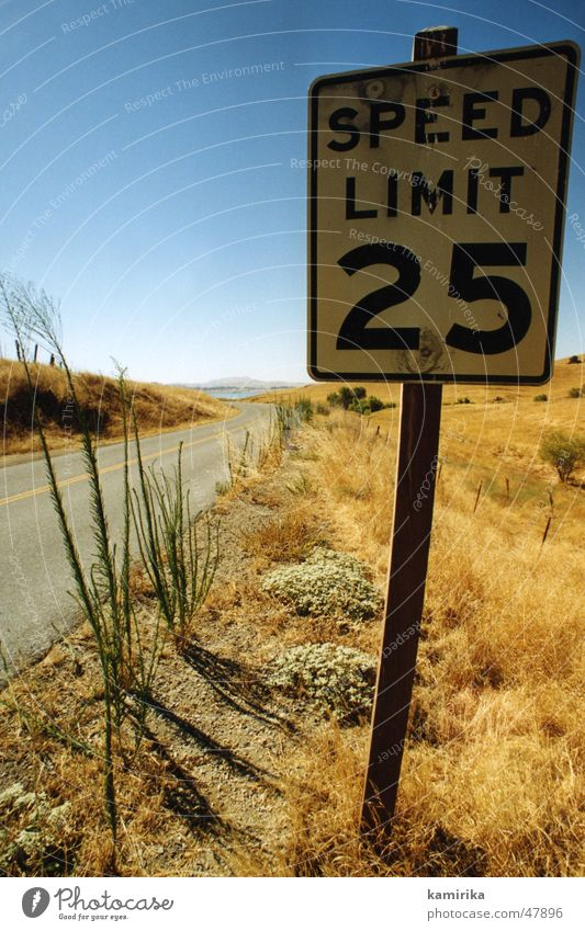 speedlimit25 Speed California Grass Yellow Los Angeles Dry Desert Sand Street Lanes & trails way Sun Blue car racing
