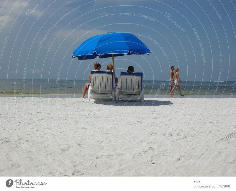 Ft.Myers Beach Miami Americas Summer Hot Bikini Ocean Longing Vacation & Travel USA Bathing place Beige Multiple Leisure and hobbies Umbrella Sand Blue