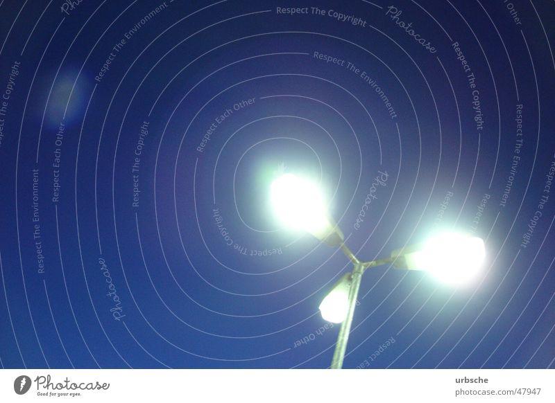 Sky White Blue Street Lamp Bright Lighting 3 Lantern Parking lot Street lighting Lamp post Night watchman