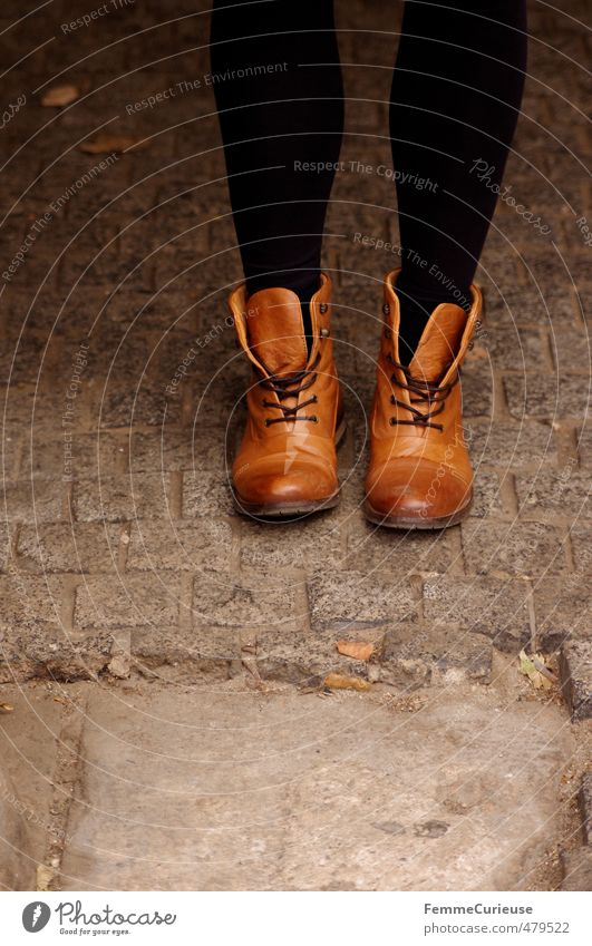 Autumnal Boots. Lifestyle Style Feminine Young woman Youth (Young adults) Woman Adults Legs Feet 1 Human being 13 - 18 years Child 18 - 30 years Modern Warmth