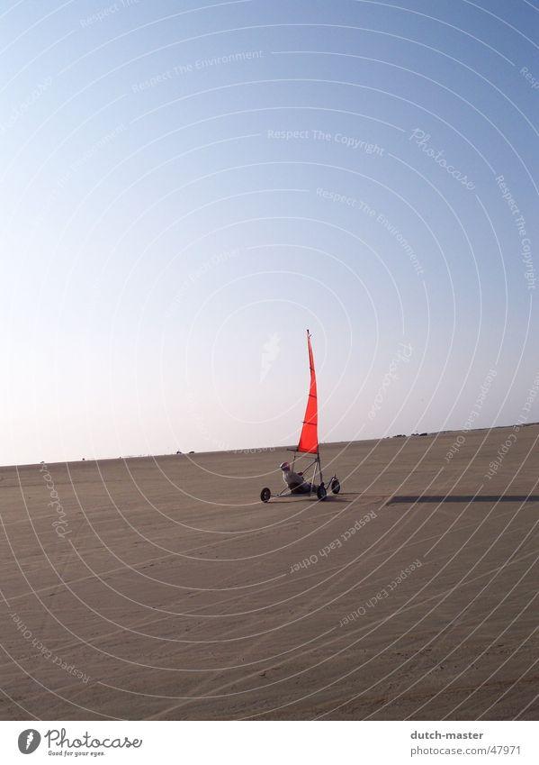 Sky Sun Blue Red Summer Joy Beach Far-off places Freedom Sand Moody Wind Flying Free Sailing Baltic Sea