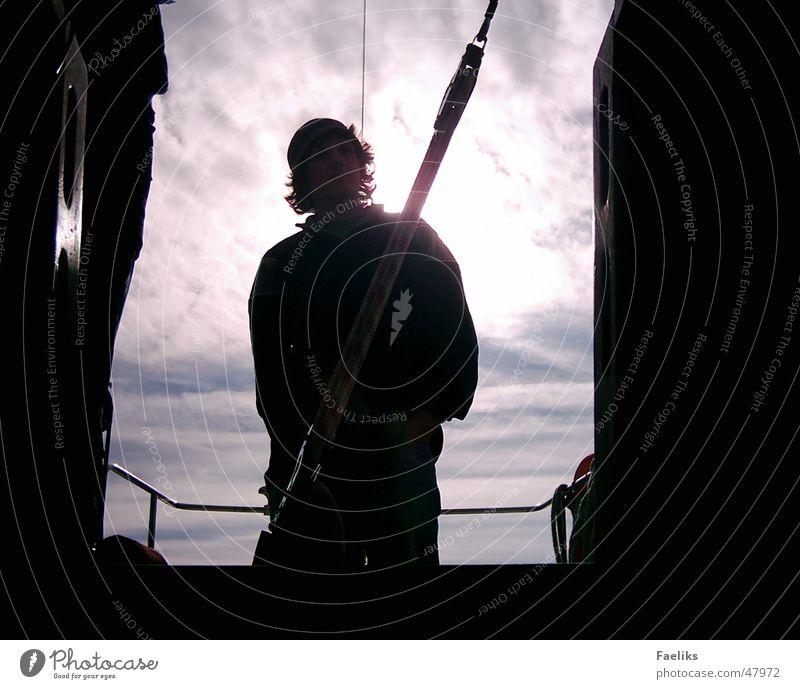 Man Sun Cold Watercraft Sailing Rear light