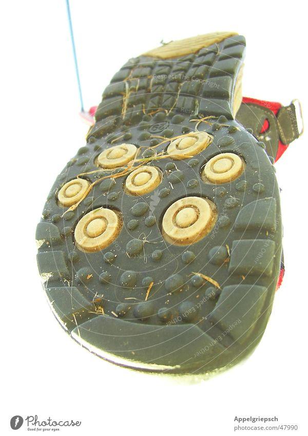 flying shoe Footwear Sandal Shoe sole Clothesline Gray Grass Sky