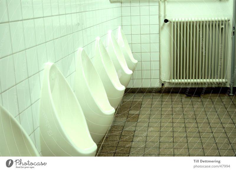 physicist's cloakroom Urinal Man Defecate Neon light Darmstadt Toilet Heater Tile Academic studies