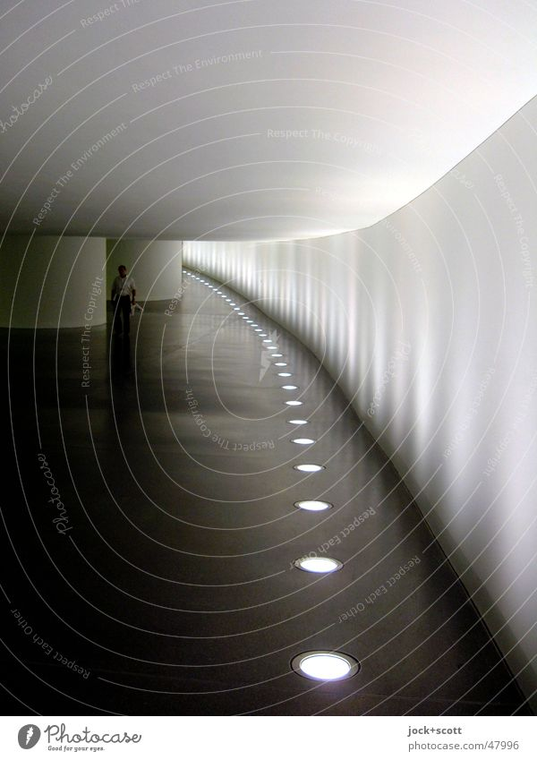 Spreegang Downtown Berlin Tunnel Concrete Stripe Illuminate Firm Long Under Gray Moody Safety Secrecy Calm Politics and state Symmetry Lanes & trails Passage