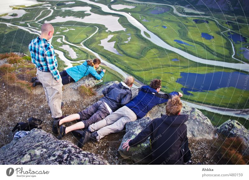 Human being Nature Vacation & Travel Landscape Far-off places Mountain Emotions Freedom Tourism Hiking Perspective Trip Study Adventure Uniqueness