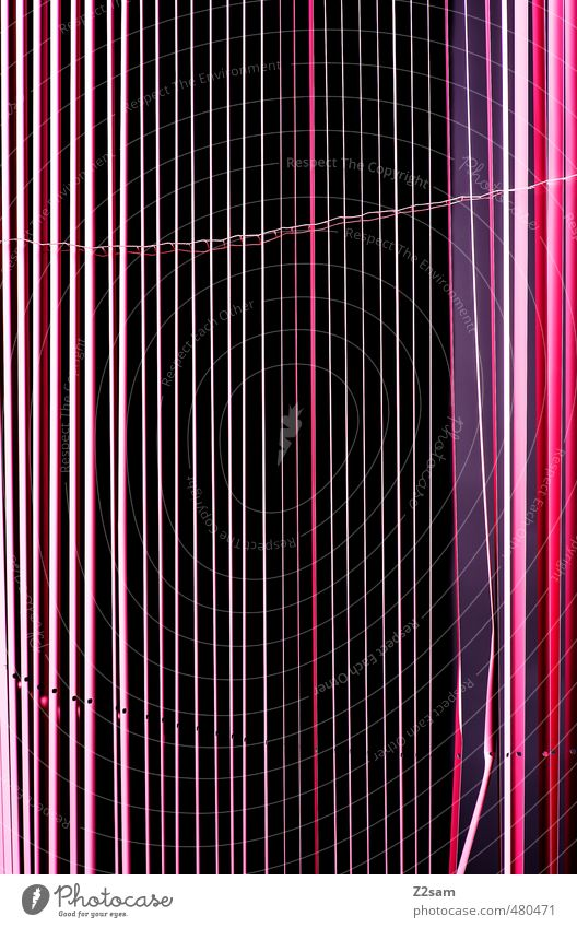 stripes Drape Roller blind Esthetic Sharp-edged Simple Elegant Violet Pink Grid Pattern Abstract Line Graphic Multicoloured Black Colour photo Interior shot