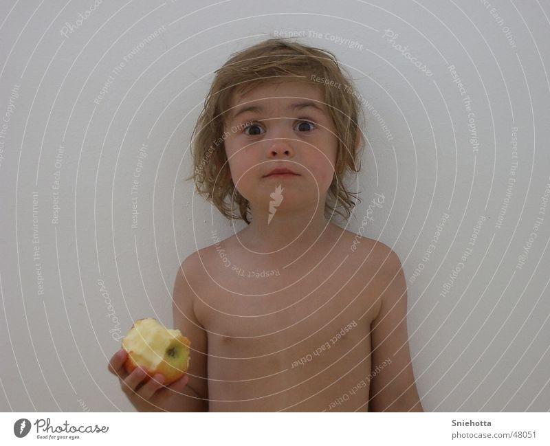 fright Girl Child Upper body Frightening Face Looking