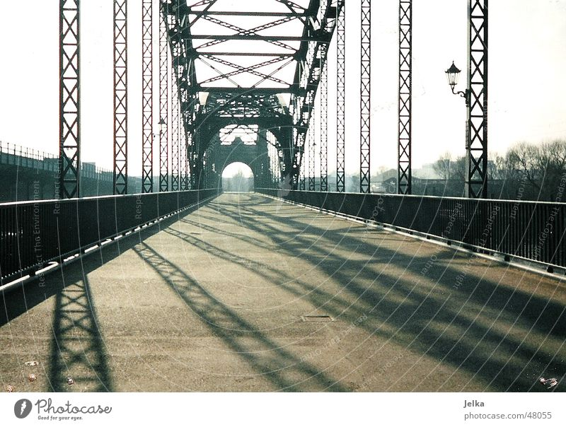 Old Elbe Bridge Lanes & trails Esthetic Süderelbe Harburg Wilhelmsburg Hamburg bridges wy ways path Subdued colour