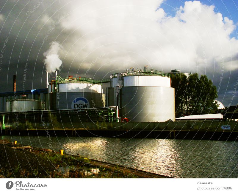 Water Dark Industry River Factory Harbour Brook Rhine Dortmund