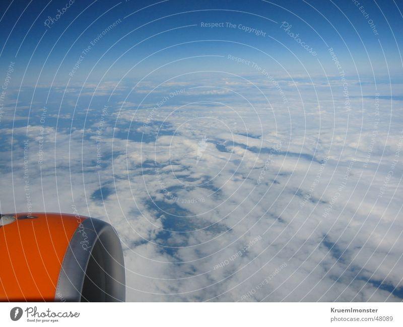 Sky Blue Clouds Air Orange Airplane Tall Aviation Americas France