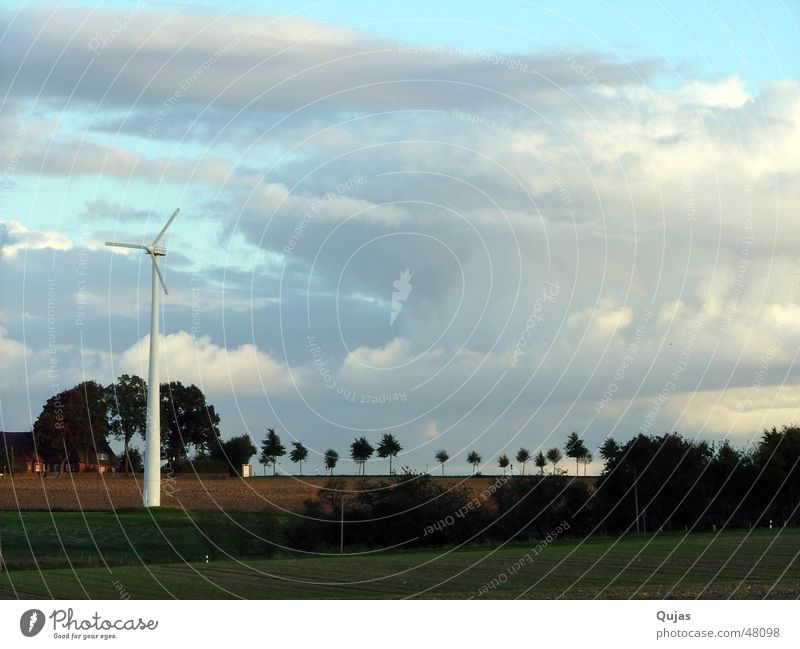 Sky Nature Clouds Far-off places Street Landscape Horizon Field Power Wind Energy industry Electricity Action Future Level Skyline