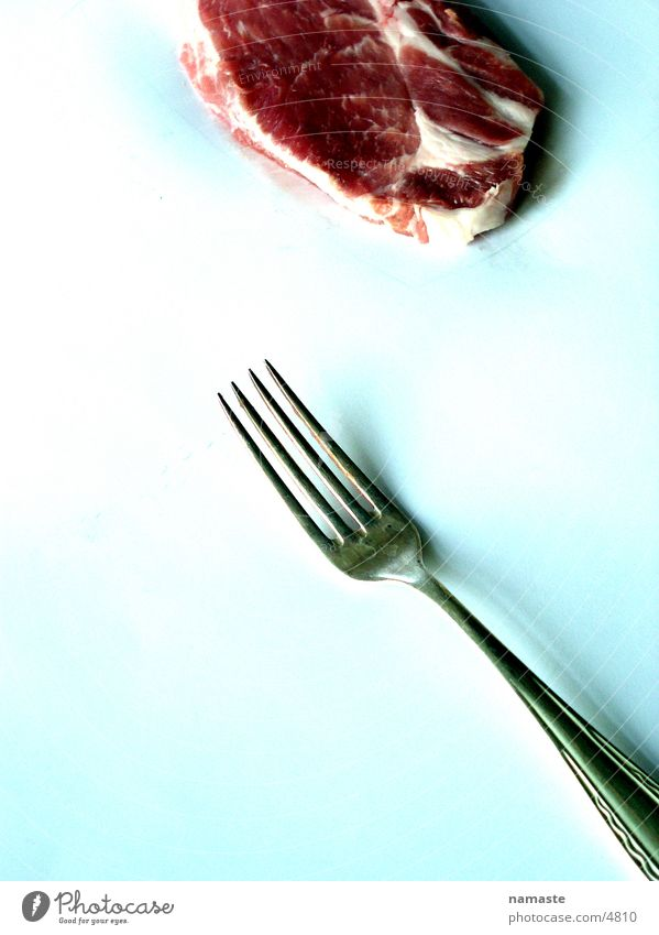 Red Nutrition Anger Cow Meat Blood Disgust Aggravation Fork Food Beef