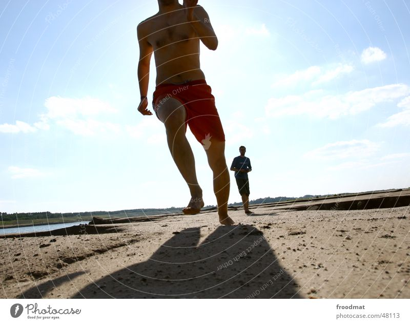 Sky Sun Summer Joy Movement Feet Sand Walking Crazy Running Dynamics Mining