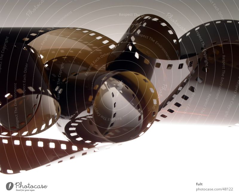 Brown Photography Film Plastic Hollow Light Rolled Rolled up