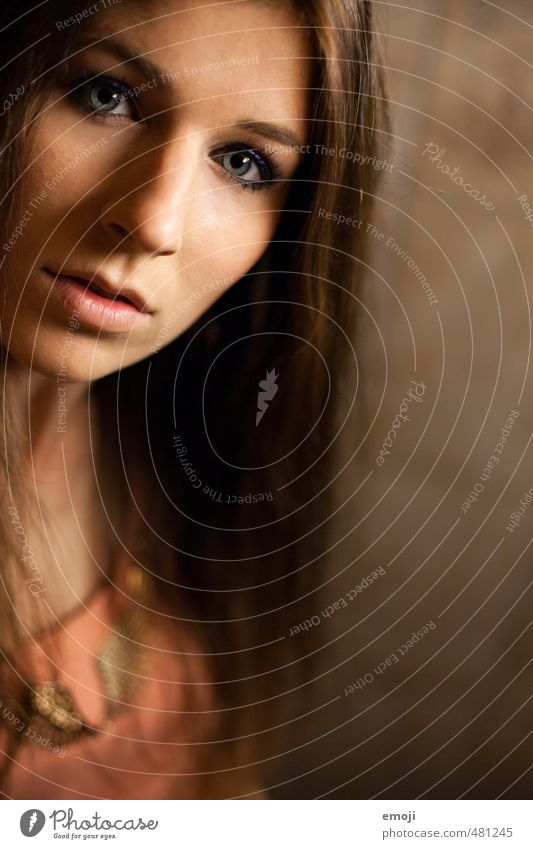 Jubi #2: 22 Feminine Young woman Youth (Young adults) Face 1 Human being 18 - 30 years Adults Beautiful Colour photo Close-up Artificial light