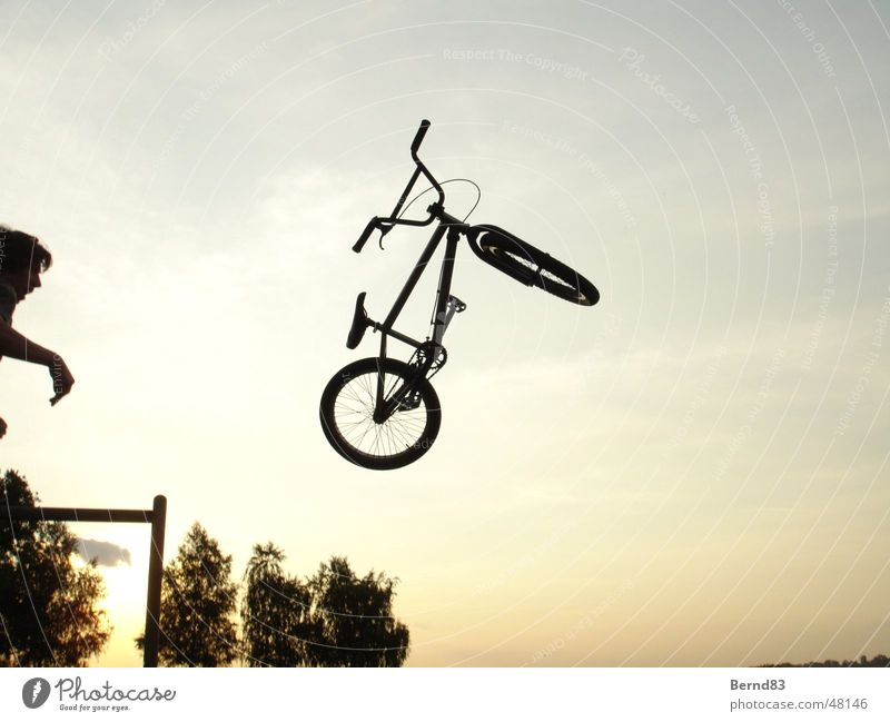 Sports Throw BMX bike Funsport Evening sun