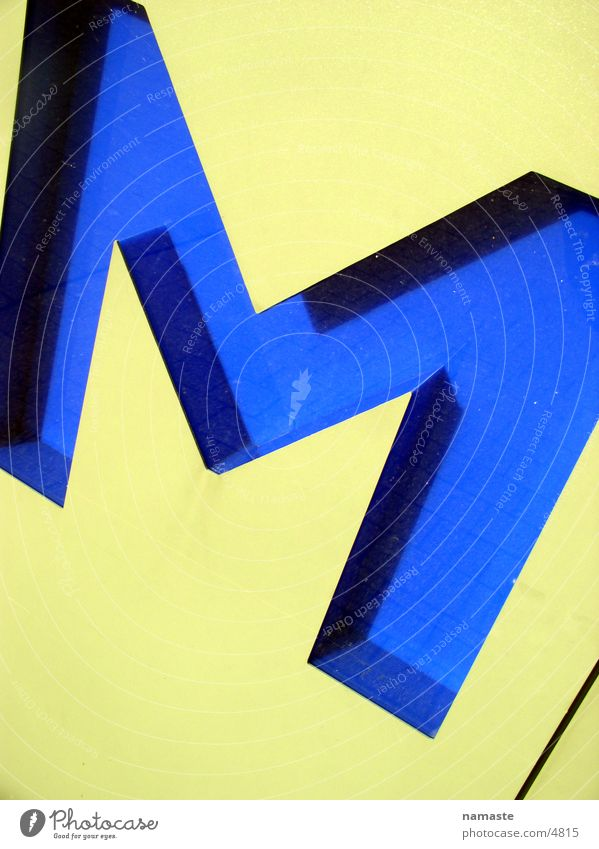 Blue Yellow Architecture Characters Letters (alphabet) Karlsruhe