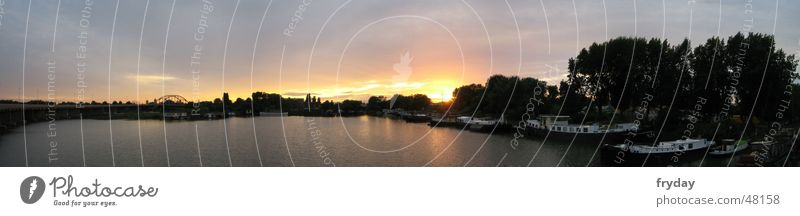 Sky Sun Lake Watercraft Large River Panorama (Format)