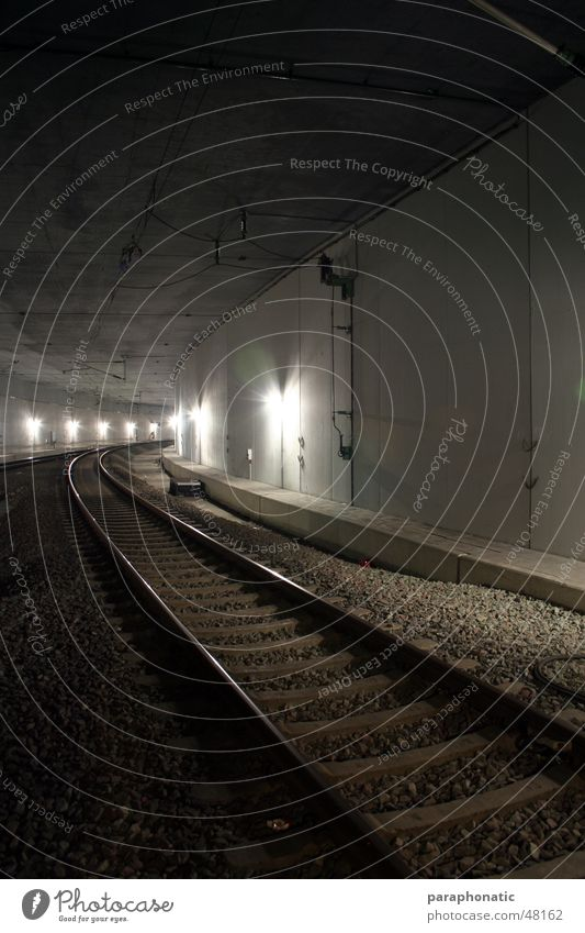 Cold Style Movement Lanes & trails Lighting Railroad Driving Long Railroad tracks Tunnel Underground Tram Commuter trains