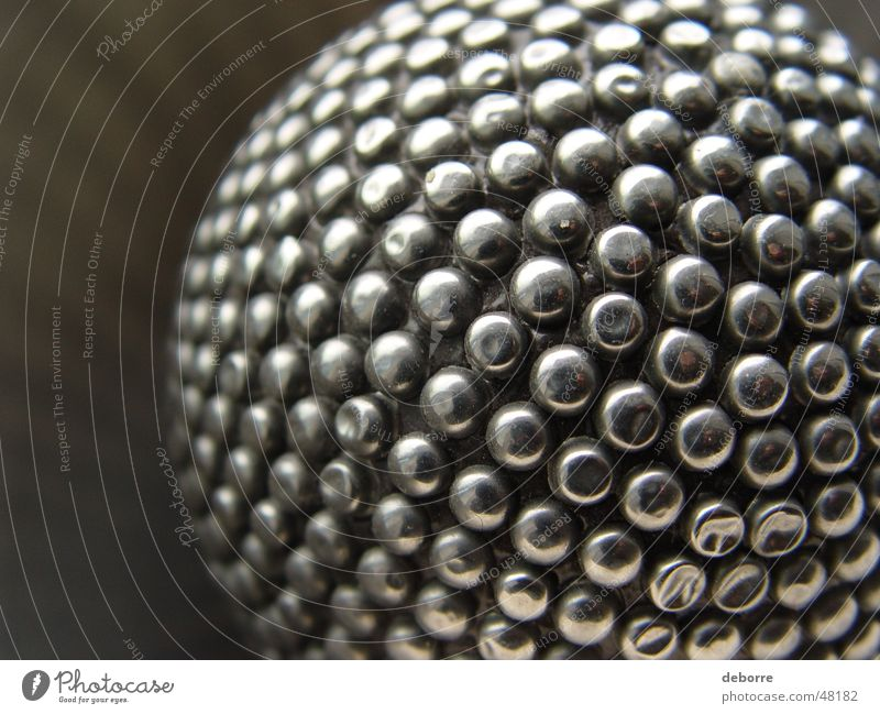 Gray Metal Glittering Round Ball Sphere Steel Silver Disco ball Burl High-grade steel Globe light