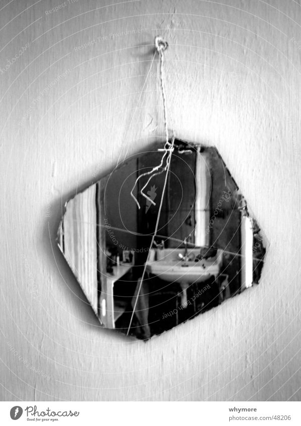 wash one's hands of sins Black White Mirror Hang Wire Tap False Opposite reflection Water