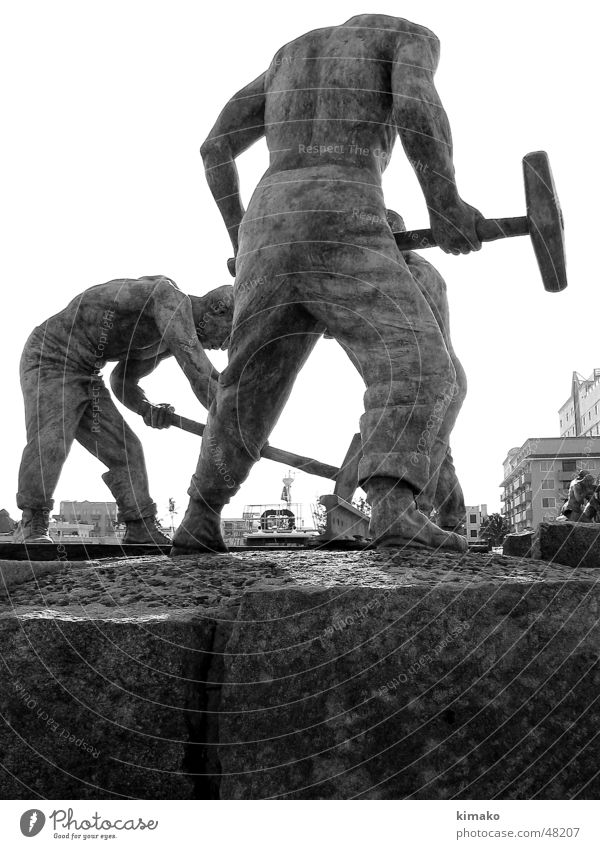 Man Railroad Monument Mexico Working man Veracruz