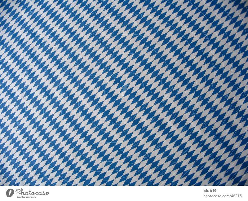 Bavaria's sky White Blue Checkered Tablecloth
