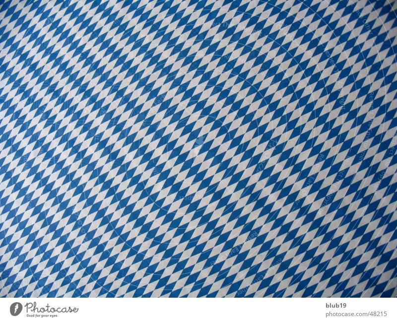 White Blue Bavaria Checkered