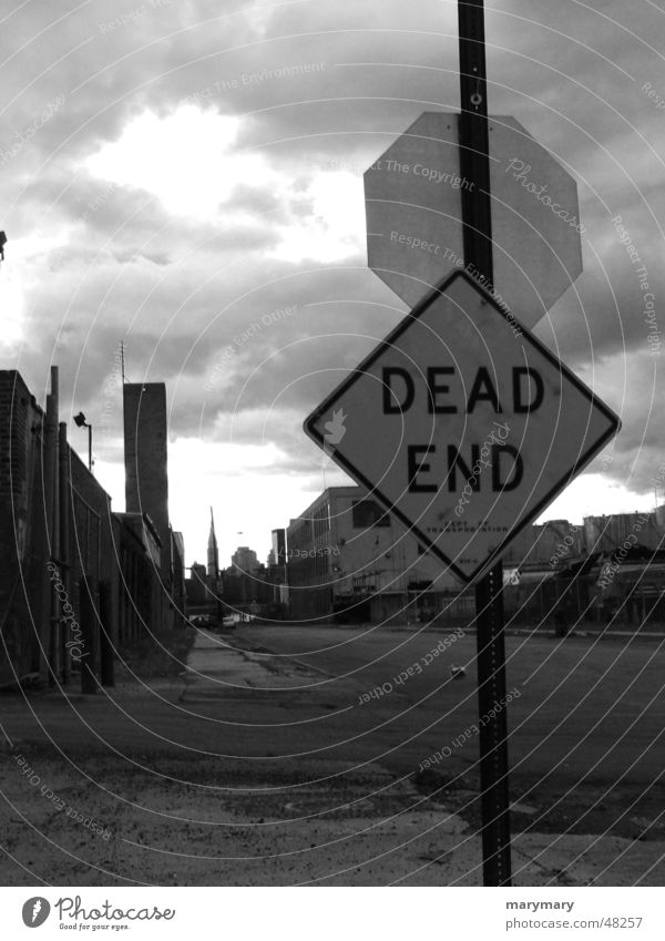 DEAD End No through road Signs and labeling Street dead end