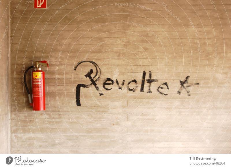 revolt Wall (building) Concrete Darmstadt Extinguisher Reunification Blaze Academic studies