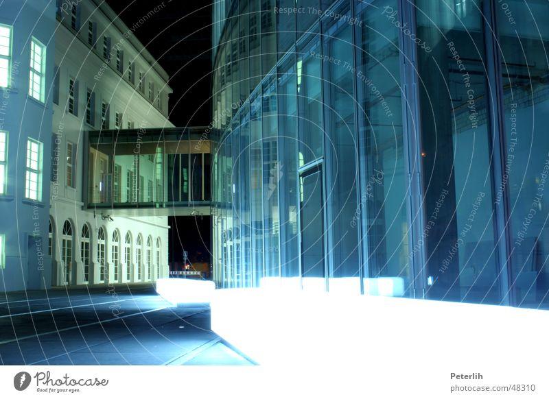 CAP Light Graf Adolf Platz House (Residential Structure) Concrete Lamp Night Duesseldorf Modern Glass Bench