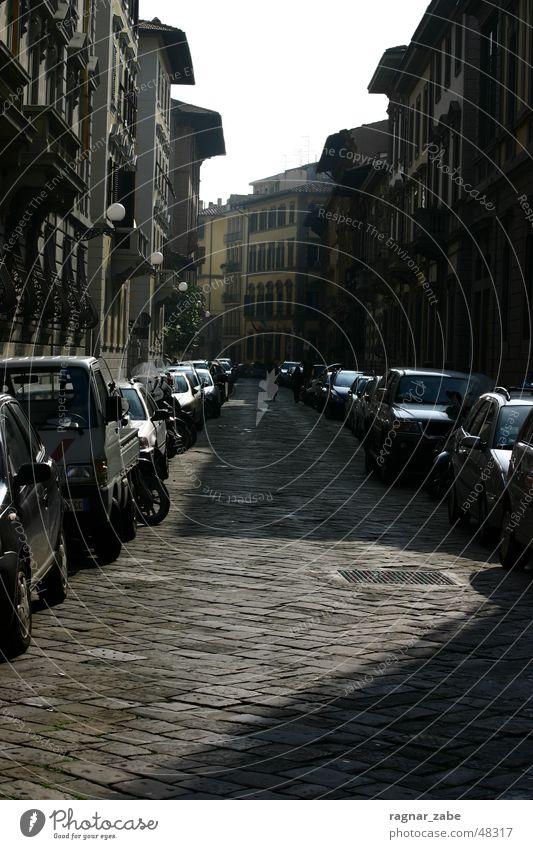 Street Dark Car Tuscany Florence