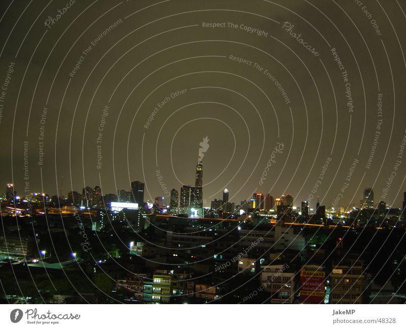 Bangkok at night Night Dark Impression Thailand Skyline Light