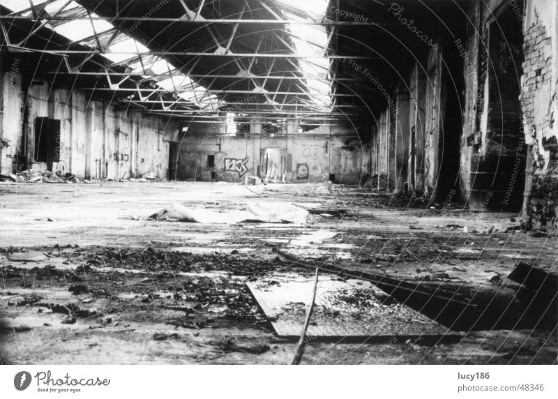 factory hall Factory Loneliness Large Warehouse Old Bright Dirty Sadness