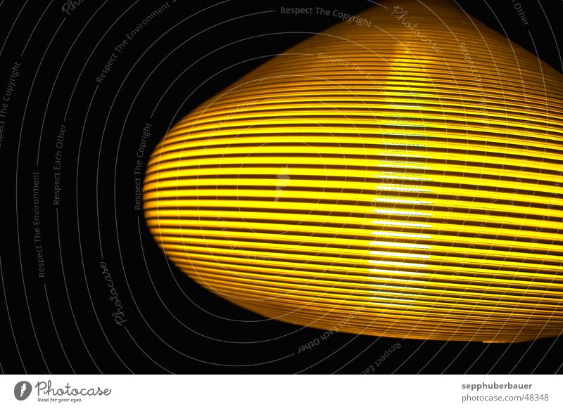 Yellow Bright Universe UFO Lampshade
