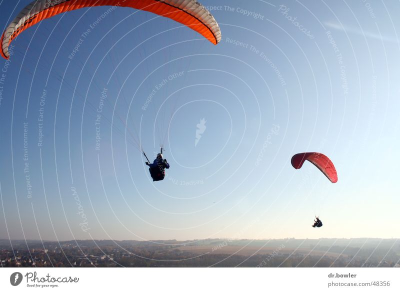 paragliding Paragliding Paraglider Parachute Flying screen Sky Freedom Joy Level