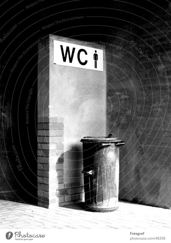 Improvised men's toilet Trash Keg Tin Brick Wall (barrier) Plaster Toilet trashcan Trashy Ashes Corner