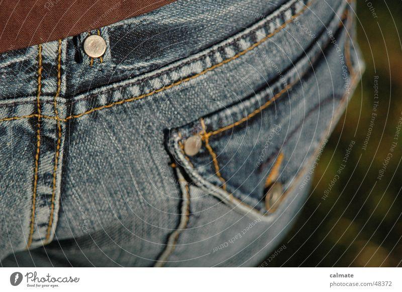 - pants pocket - Bottom Half Jacket Jeans Leather jacket Stitching right trouser pocket Rivet Floor covering