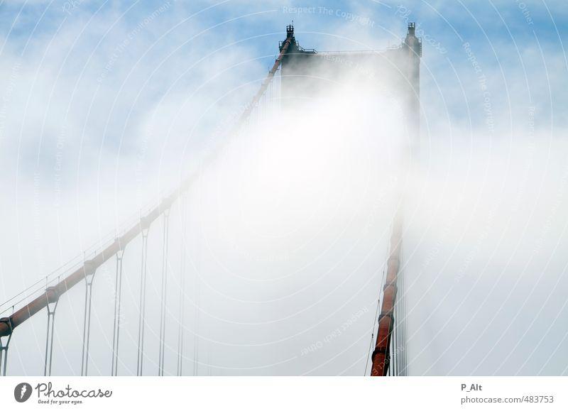 Red Clouds Building Bright Wind Fog Tall Esthetic Bridge Landmark Tourist Attraction Famousness Golden Gate Bridge