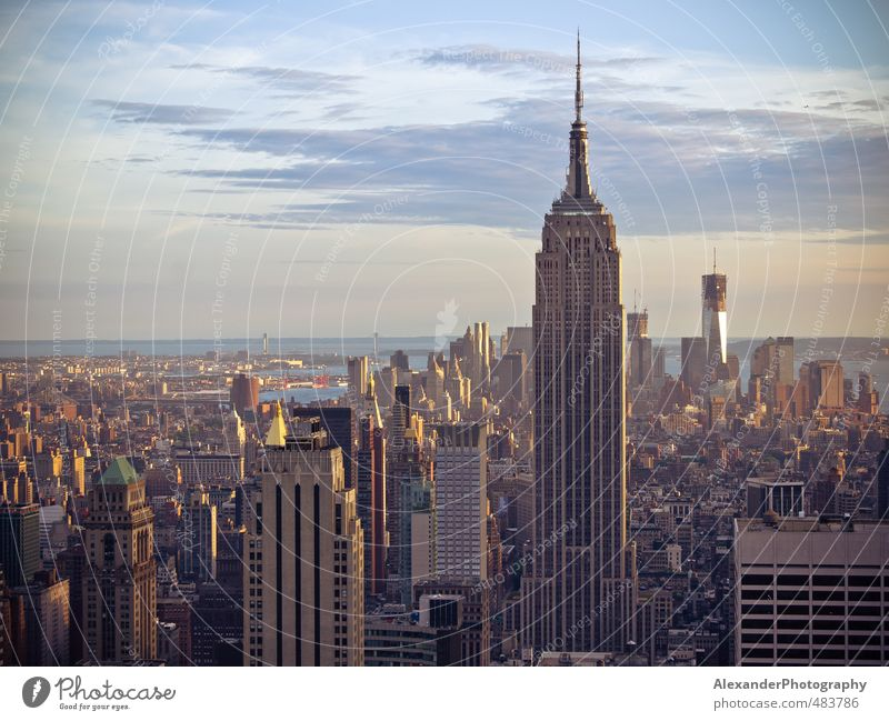 Architecture Building Idyll Living or residing Modern Uniqueness Culture Skyline Capital city Inspiration New York City Manhattan North America Empire State building