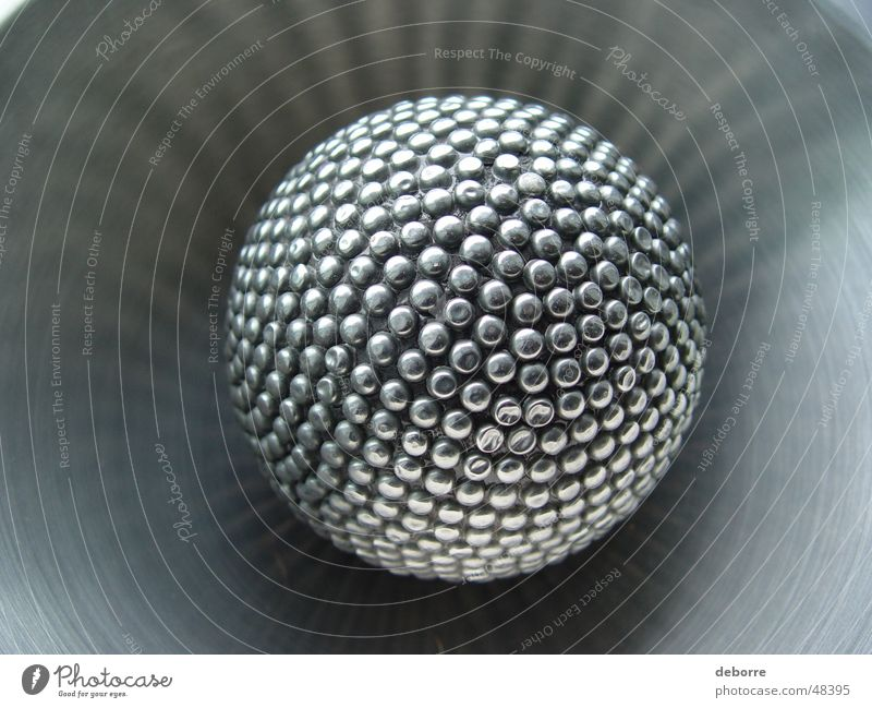 Gray Glittering Ball Sphere Steel Massage Silver Object photography Burl High-grade steel Spherical