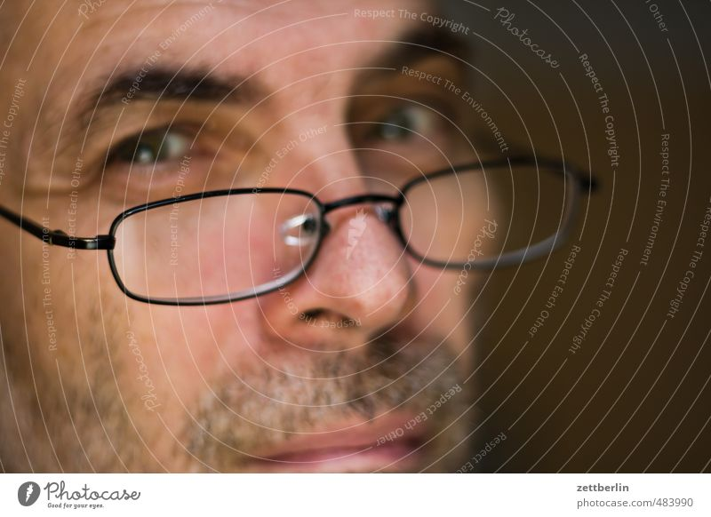 Slippery smile Masculine Man Adults Eyes Mouth Facial hair 1 Human being 45 - 60 years Eyeglasses Responsibility Attentive Watchfulness Prompt Conscientiously