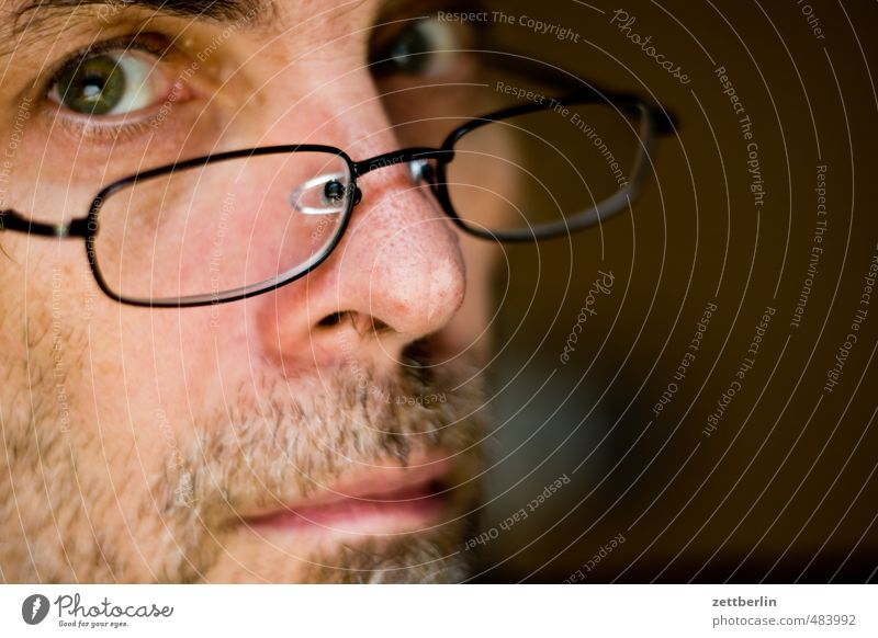 lutz Masculine Man Adults Eyes Mouth Lips Facial hair 1 Human being 45 - 60 years Eyeglasses Looking Emotions Attentive Watchfulness Conscientiously Caution
