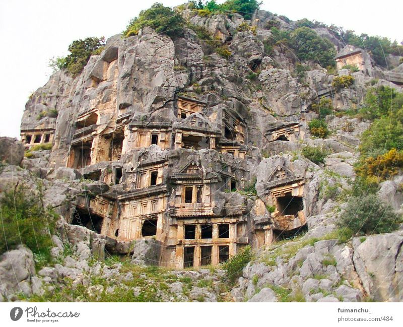 Turkey Myra Lycian rock tombs