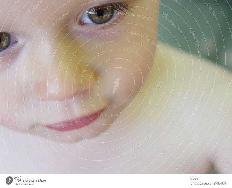 close-up Child Girl Close-up Cyan Bird's-eye view Pout Naked popilla Eyes eyelash Nose