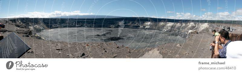 Halemaumau Crater Hawaii Volcanic crater Panorama (View) Sulphur Volcano Large Panorama (Format)